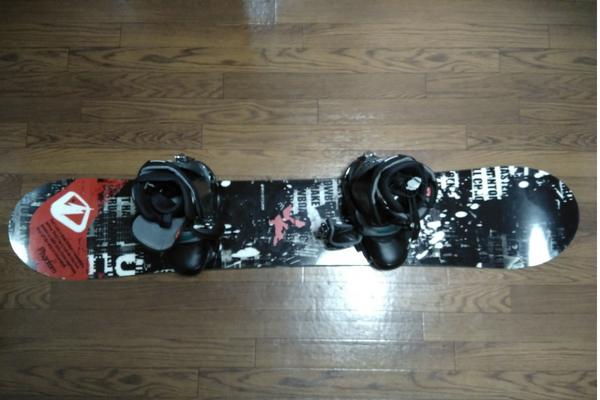 板とスノボブーツの大きさが適正の例の図
