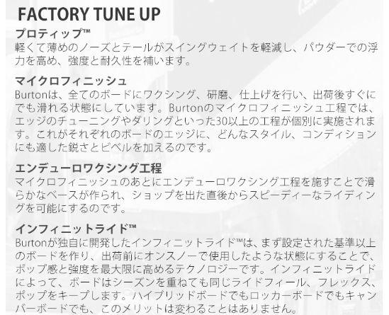 バートン・カスタム(burton・custom)評価⑧FACTORY TUNE UP①