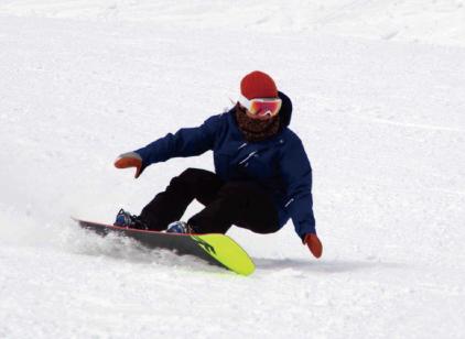 スノーボード初心者へのターンの教え方